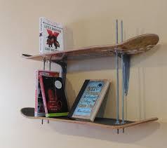 Skateboard Bedroom Furniture Practical Diy Skateboard Bookshelves