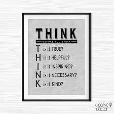 inspirational wall art for office. Office Wall Art Inspirational Quote Motivational Decor Think Before You Speak Quotes Printable Cubicle Work Prints For V