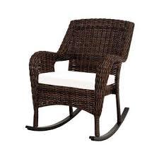 cambridge brown wicker outdoor rocking chair