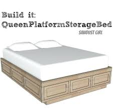 Bed Frames With Storage Drawers Platform Bed Frame With Storage ...