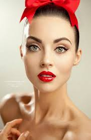 i definetly love this makeup 40 s rosie the riveter meets 50 s