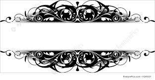 Border Black And White Illustration Of Black Scroll Border