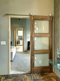 glass barn doors interior a sliding door for the office or spare hardware home depot full
