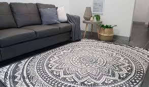 industry mandala grey and natural white modern rugs grey white rug a19