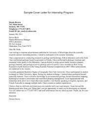 How To Make A Cover Letter For Internship Granitestateartsmarket Com