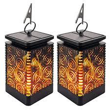 <b>Solar</b> Lantern Lights Outdoor <b>Solar Flame</b> Lights - <b>2 Pack</b> Dancing ...