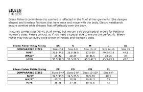 Eileen Fisher Size Chart Naturals Inc