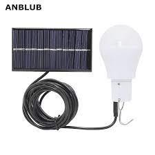 ANBLUB taşınabilir LED güneş lambası şarjlı güneş enerjili lamba paneli  Powered acil ampul açık bahçe kamp çadır balıkçılık|Güneş Lambaları