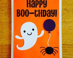 halloween birthday greeting funny halloween card etsy