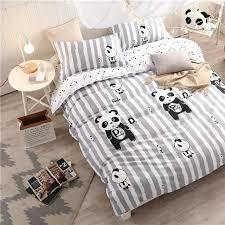 panda bed set lovely panda bedding set black and white duvet cover cartoon for children kids full queen panda bed set twin