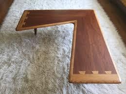 mid century modern lane acclaim walnut boomerang coffee table