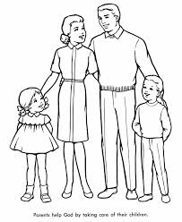 coloring pages of families