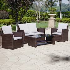 4 Piece Algarve Rattan Sofa Set For Patios Conservatories And Rattan Garden Furniture Buy Uk