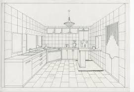 kitchen 1 point perspective. unique two point perspective kitchen 1 i