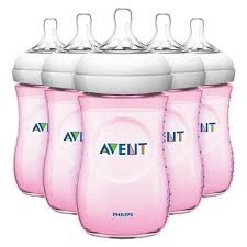 Avent Decorated Bottles Avent Philips AVENT Natural Bottle 100Pack Pink 100 oz 68