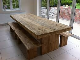 rustic dining table and bench awesome large dining table benches