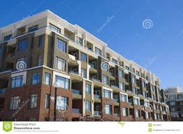 Block Of Flats Apartment Building Stock Image Image Of European