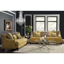 Furniture of America Visconti 2-piece Premium Velvet Sofa and Loveseat Set  - Free Shipping Today - Overstock.com - 16100656