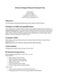 Interior Designer Resume Sample Gallery of Interior Design Resume Template 31