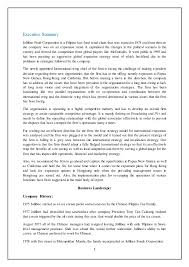 Jollibee Food Corporation Organizational Chart Jollibee Foods Corp Inrenational Expansion 1