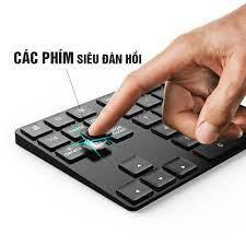 Bàn phím số không dây Wireless 2.4G, cho Laptop, thiết bị di động, 35 phím,  thêm các phím chức năng, Pin sạc, phím êm Minh House-Hàng chính hãng - Bàn  phím văn