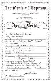 Samp Stunning Sample Of Baptismal Certificate Philippines Archives