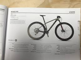 Scott Scale Geometry Chart Scott Scale 910 Hardtail Mountain Bike 2020 29er Mountain Bike