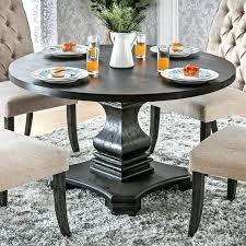 furniture of america lucena antique black wood traditional black 48 round pedestal dining table black