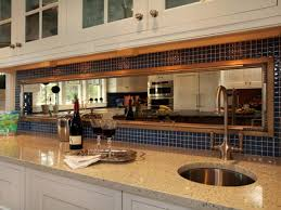 Mirror Tiles Decorating Ideas Kitchen Captivating mirrored kitchen backsplash ideas antiqued 94