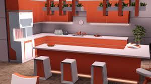 Sims 3 Kitchen Fresh Orange Kitchen Recolor The Sims 3 Into The Future The