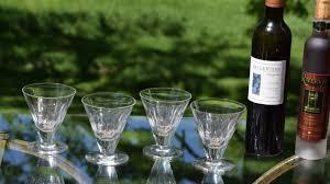 vintage crystal wine cordial glasses set of 4 crystal liquor port wine cordials 5 oz after dinner drink glasses dessert wine glasses