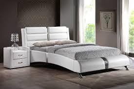 g azure white or black queen platform bed