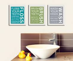 bathroom wall decorations wall art ideas design printable text for bathroom decorations brush floss flush