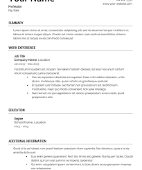Download Resume Temple