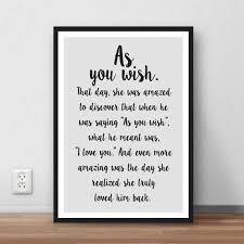 Bride Quotes Adorable The Princess Bride Quote As You Wish Wall Art By LikeableType