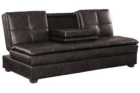 3 Seater Sofa Bed Brown Leather Convertible Sofa Bed Kingsley Serta Sofa