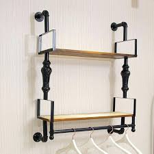 wall mounted clothes rail. Wall Hanger For Clothes Clothing Hooks Mounted Garment Rack Great Rail N