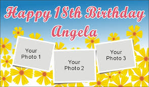 custom happy birthday banner 3ftx5ft personalized happy 18th birthday banner 201007132350