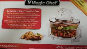 magic chef 3 gallon convection countertop oven glass bowl white 665679010585