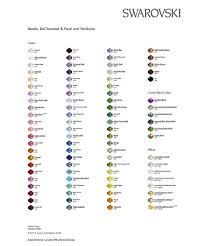 Swarovski Color Chart Crystals Bead Size Chart