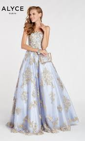 Alyce Paris 60396 Straight Strapless Prom Gown