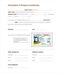 Guardianship Forms 9 Free Word Premium Templates Temporary Letter