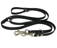 black 6 way european multifunctional leather dog leash adjustable schutzhund lead 49 94 long 3 4 wide 18 mm com