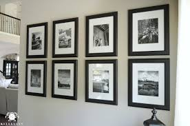 gallery wall ideas black and white vacation photos