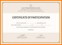 13 Certificate Of Participation Design Weddingsinger On The Road