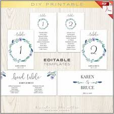 wedding seating chart template for round tables