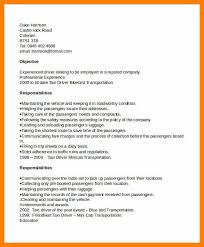 Driver Resume Format Resume Template Ideas