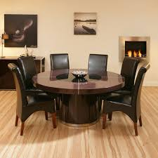 set round extending table with 6 folding chair style