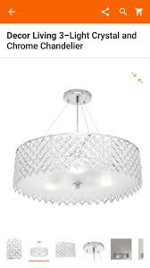new decor living 3 light crystal chrome chandelier for in miramar fl offerup