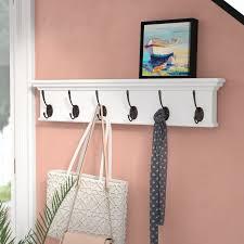 6 Hook Coat Rack Beachcrest Home Amityville 100 Hook Coat Rack Reviews Wayfair 33